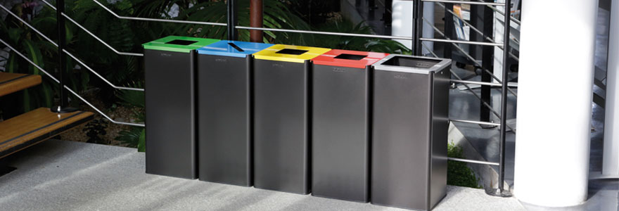Poubelle de tri sélectif, poubelle de bureau
